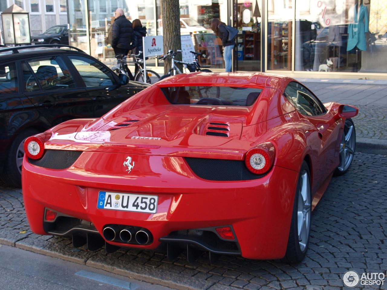 Ferrari 458 Spider - 17 November 2012 - Autogespot  Ferrari 458 Spider Red