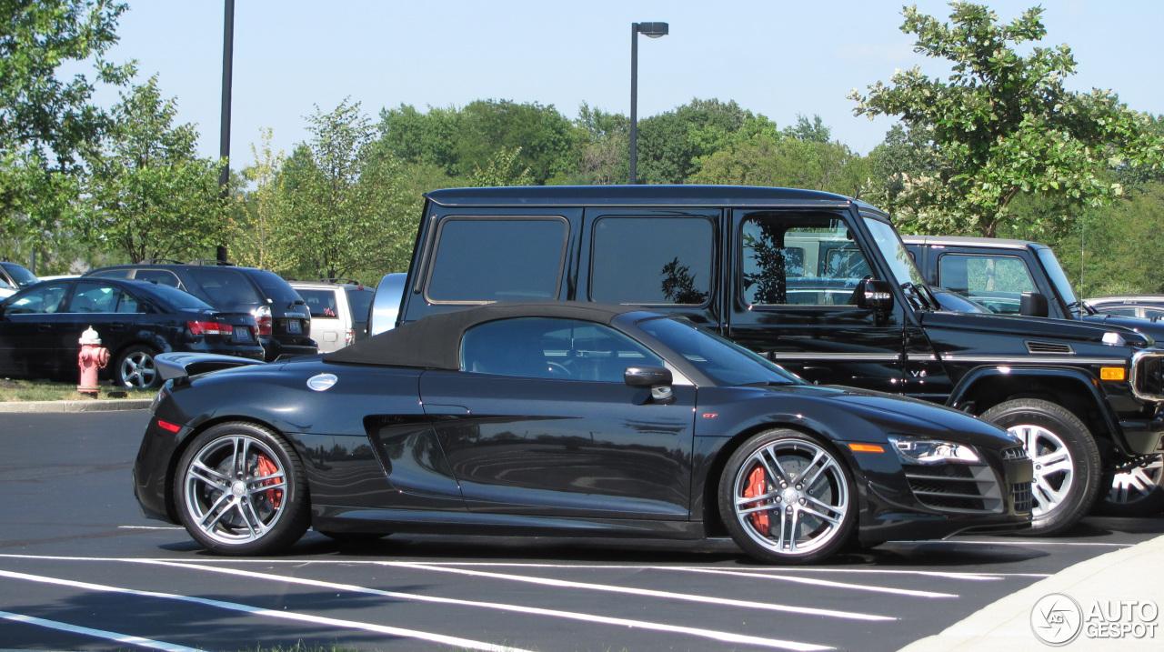 Audi r8 spyder matte black and orange 18