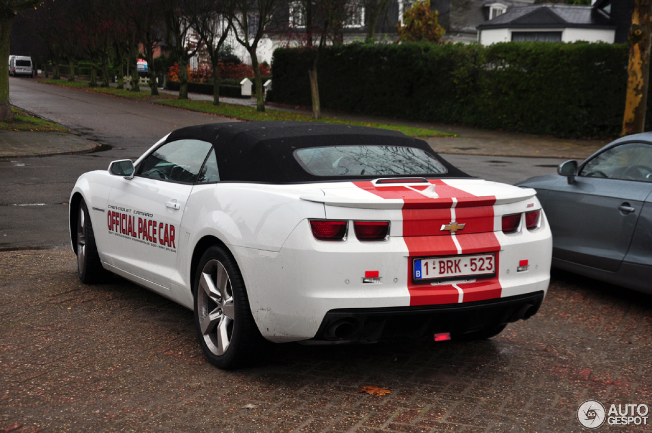 chevrolet camaro ss convertible indy 500 pace car 23 november 2012 autogespot. Black Bedroom Furniture Sets. Home Design Ideas